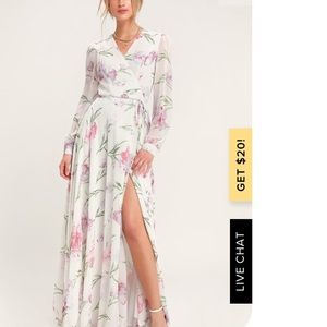 Lulus Loving You White Floral Long Sleeve Dress